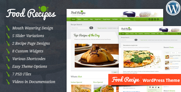 Tema WordPress Food Recipes