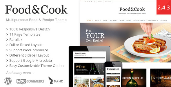 Tema WordPress Food and Cook