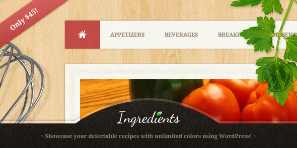 Tema WordPress Ingredients