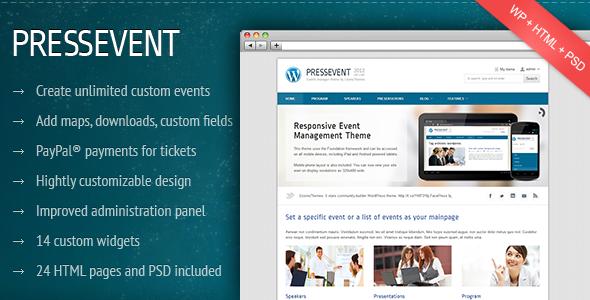 Tema WordPress PressEvent