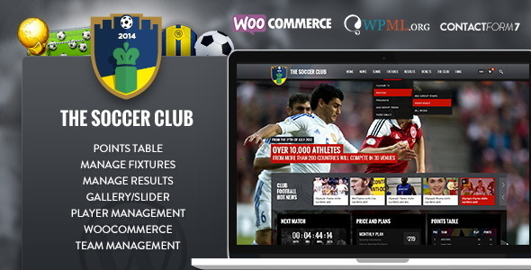 Tema WordPress Soccer Club