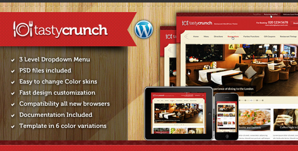 Tema WordPress Tasty Crunch