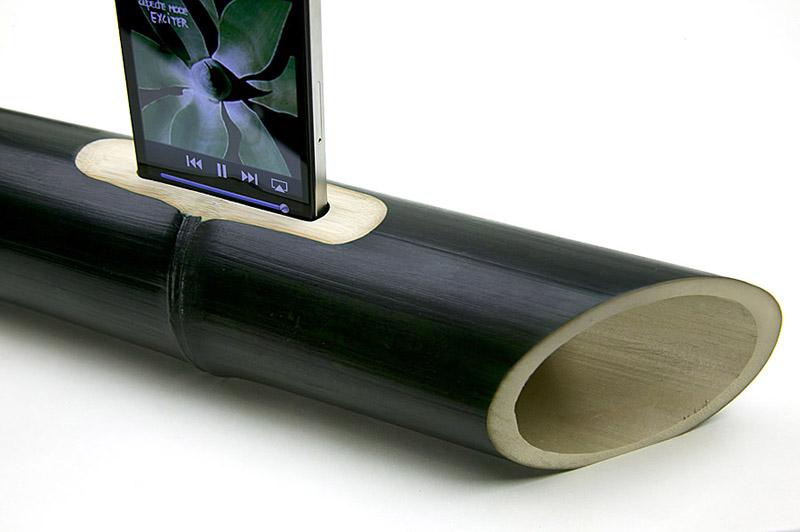 Altavoces de bambú