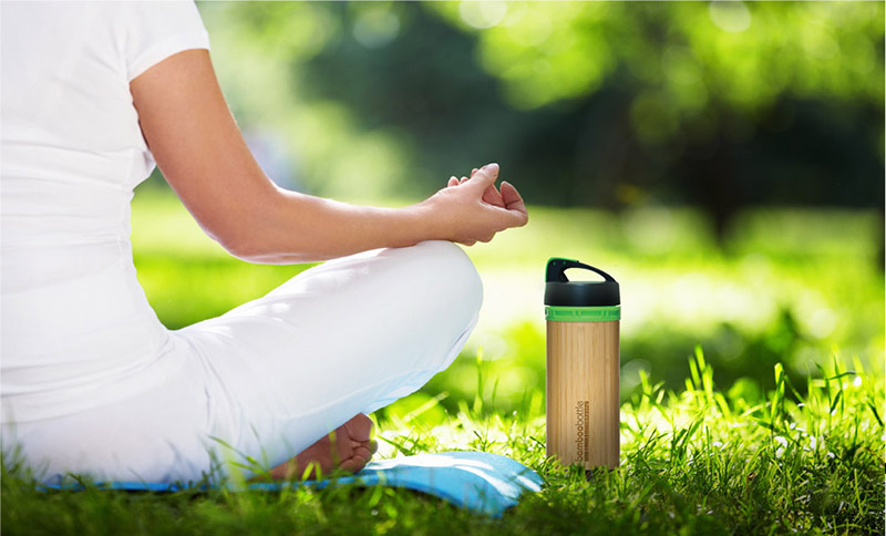 Botella de bambú