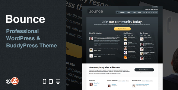 Tema WordPress Bounce