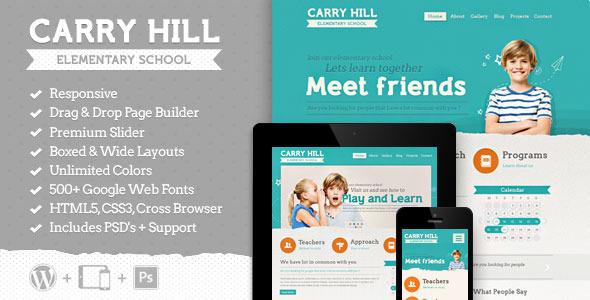 Tema WordPress Carry Hill School