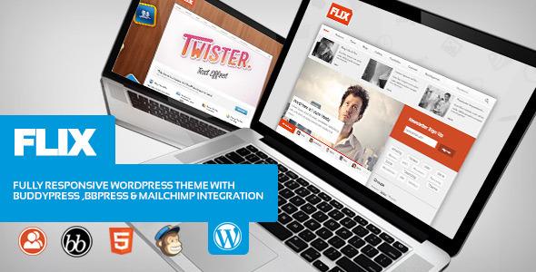 Tema WordPress Flix BuddyPress