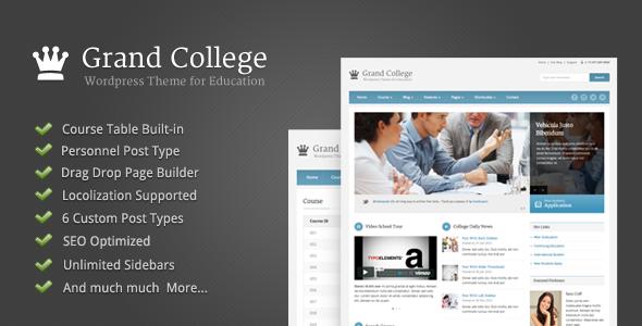 Tema WordPress Grand College