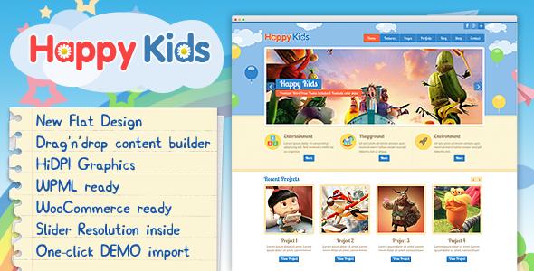 Tema WordPress Happy Kids