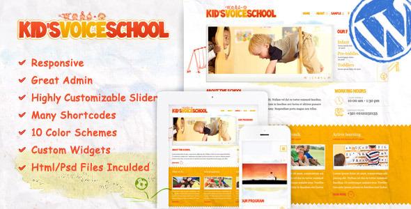 Tema WordPress Kids Voice School