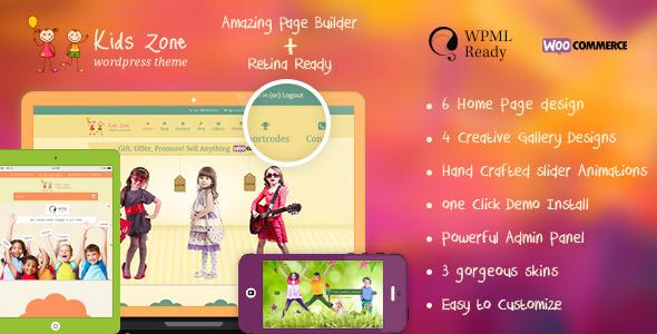 Tema WordPress Kids Zone