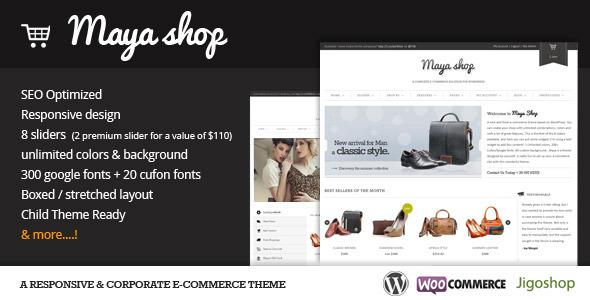 Tema WordPress Maya Shop