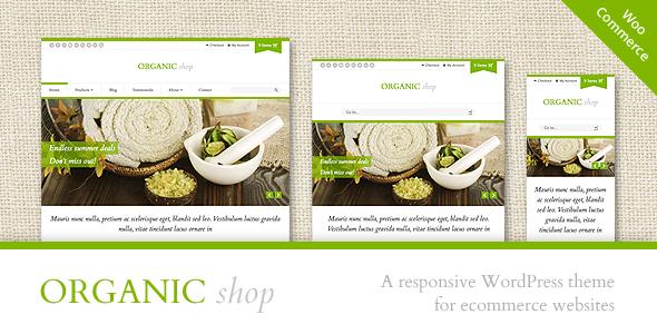 Tema WordPress Organic Shop