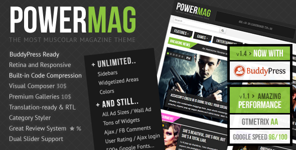 Tema WordPress PowerMag
