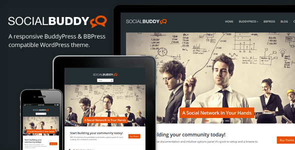 Tema WordPress Social Buddy