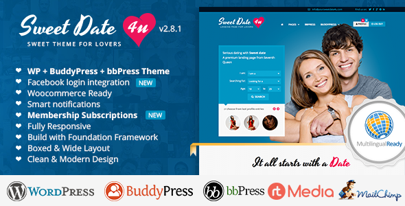 Tema WordPress Sweet Date