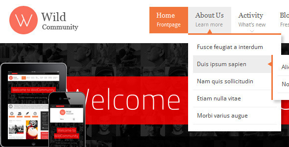 Tema WordPress WildCommunity