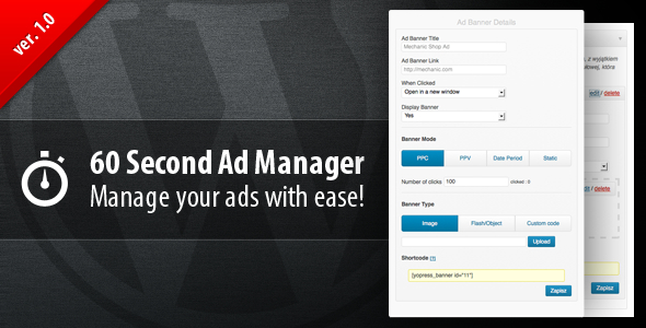 Plugin 60 Second Ad Manager