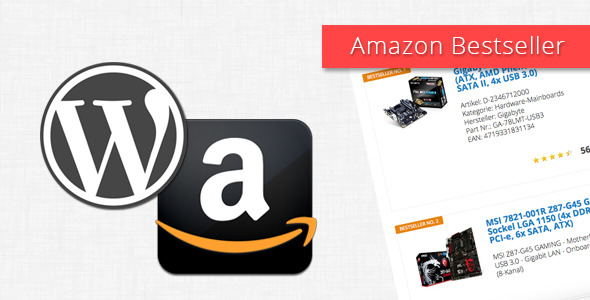Plugin Amazon Bestseller for WordPress