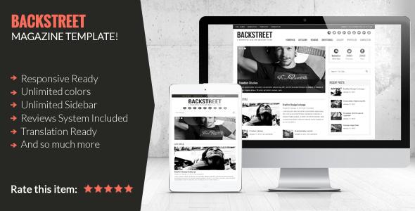Tema WordPress Backstreet