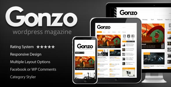 Tema WordPress Gonzo