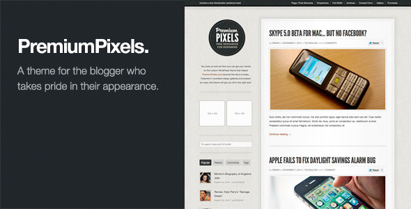 Tema WordPress Premium Pixels