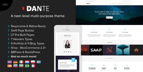 Tema WordPress Dante