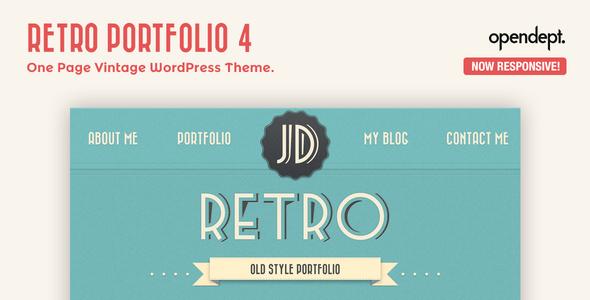 Tema WordPress Retro Portfolio