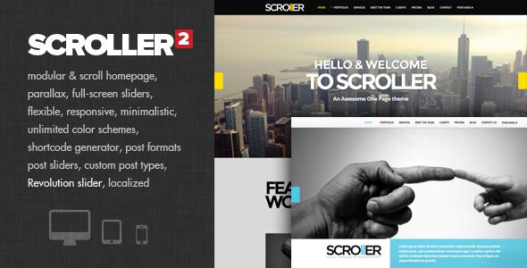 Tema WordPress Scroller