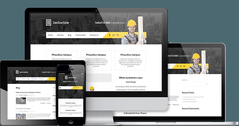 Tema WordPress Constructzine