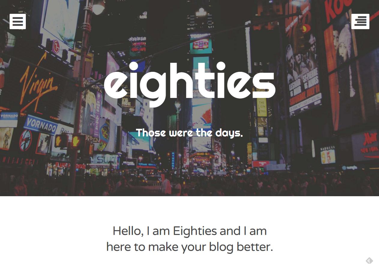 Tema WordPress Eighties