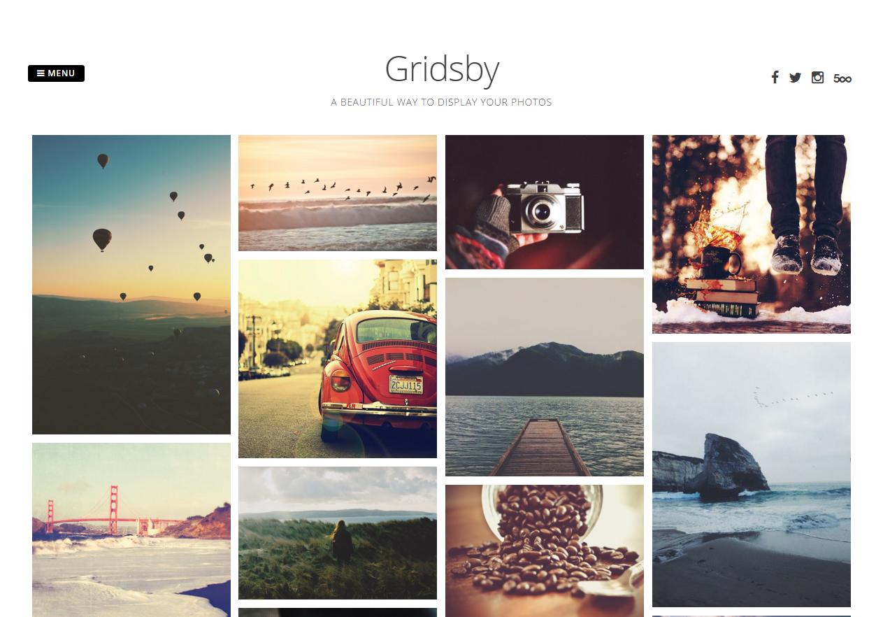 Tema WordPress Gridsby