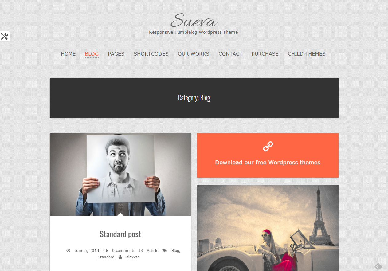 Tema WordPress Sueva