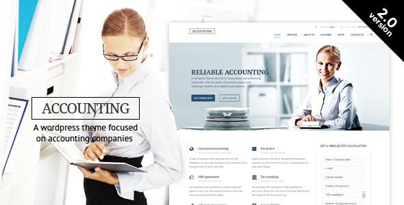 Tema WordPress Accounting