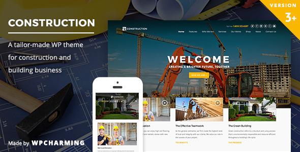 Tema WordPress Construction
