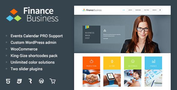 Tema WordPress Finance Business