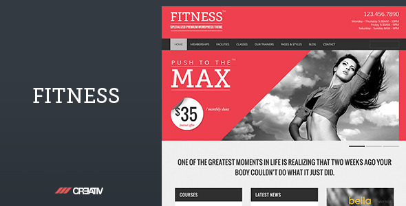 Tema WordPress Fitness