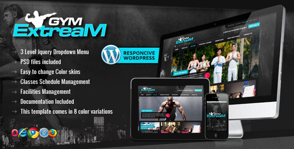 Tema WordPress Gym Extream