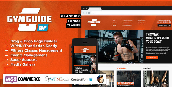 Tema WordPress Gym Guide