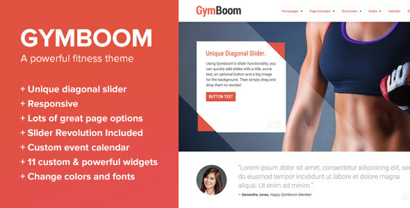 Tema WordPress GymBoom