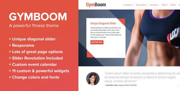 Tema WordPress GymBoom