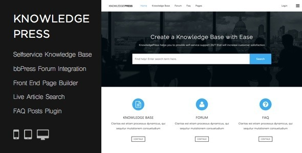 Tema WordPress KnowLedge Press
