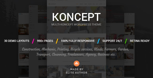 Tema WordPress Koncept