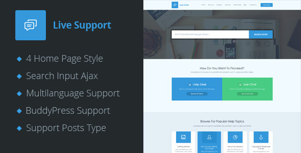 Tema WordPress Live Support