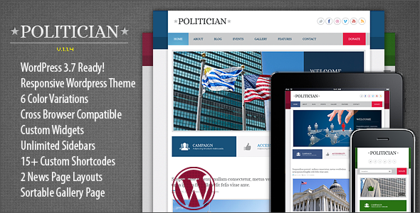 Tema WordPress Politician