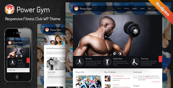 Tema WordPress Power Gym