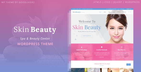 Tema WordPress Skin Beauty