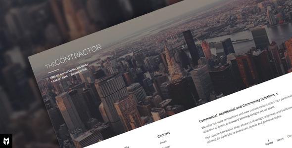 Tema WordPress The Contractor