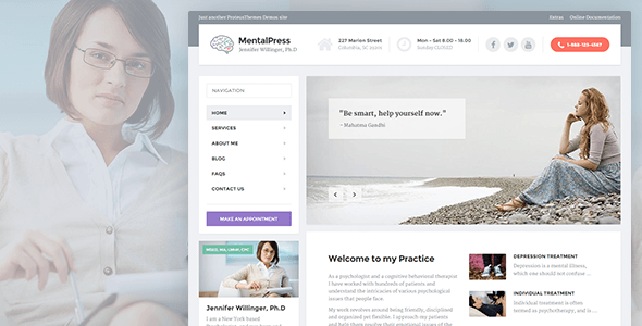 Tema WordPress MentalPress