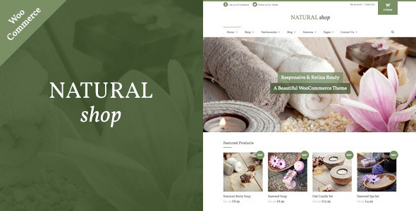 Tema WordPress Natural Shop